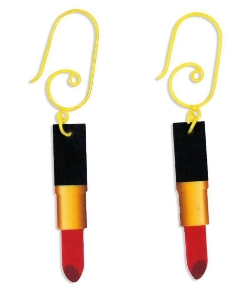 Symbolic Red Lip-stick Dangling Earrings
