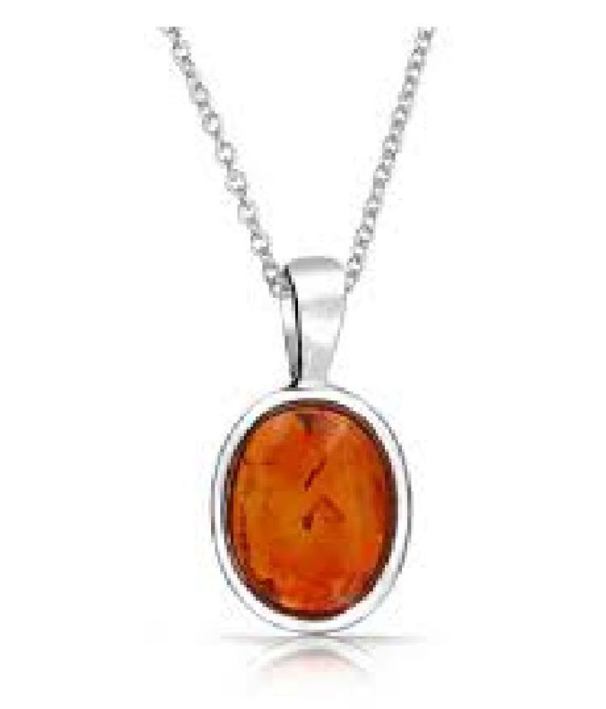5.25 Ratti Amber Pendant with Natural silver Amber Stone by Kundli Gems