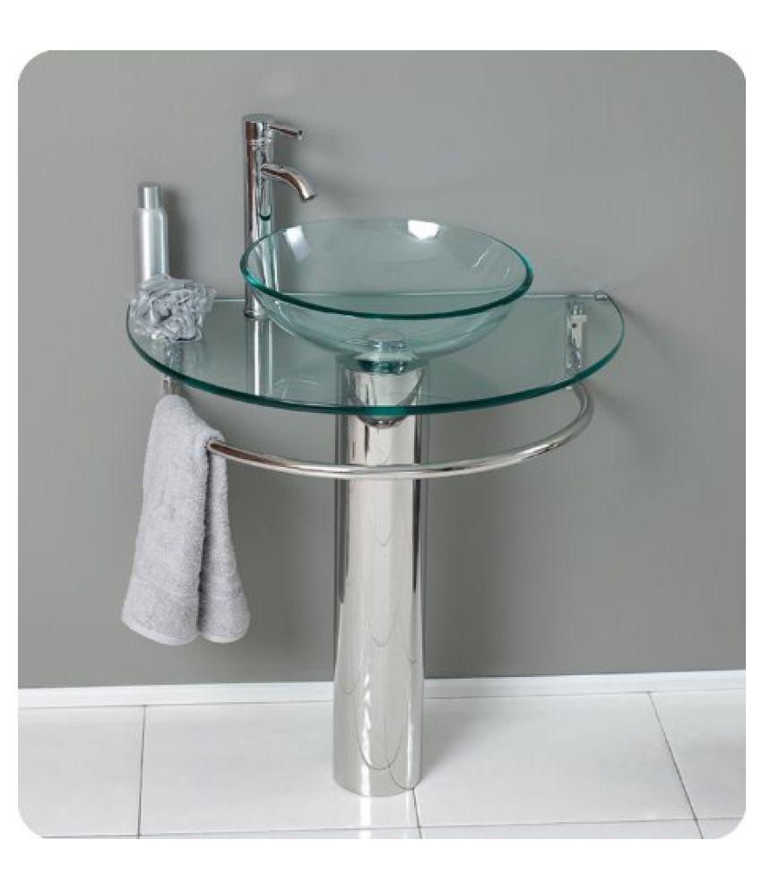 HIMANS Assorted Toughened Glass Wall Hung Wash Basins
