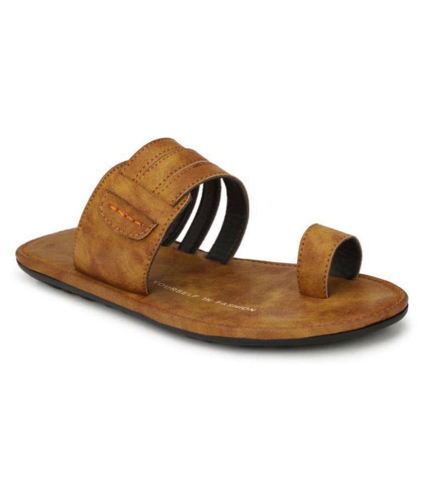 Leeport Beige Leather Slippers
