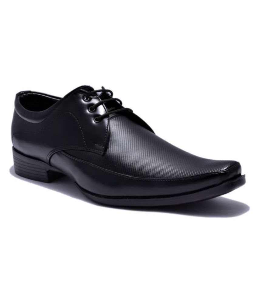 Sir Corbett Office Non-Leather Black Formal Shoes