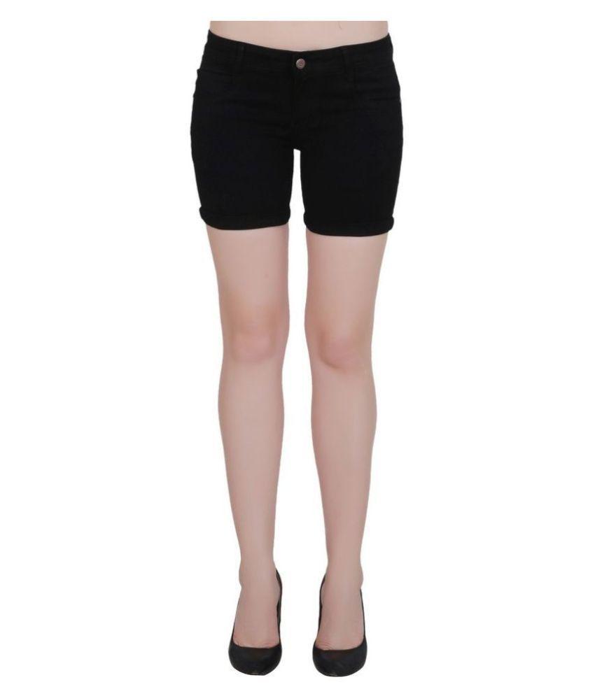 FORTH Denim Hot Pants - Black