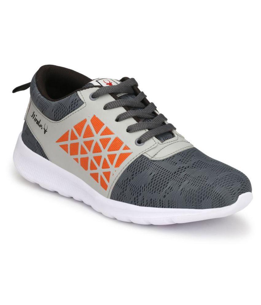 Hirolas HRL1929GRO Gray Training Shoes