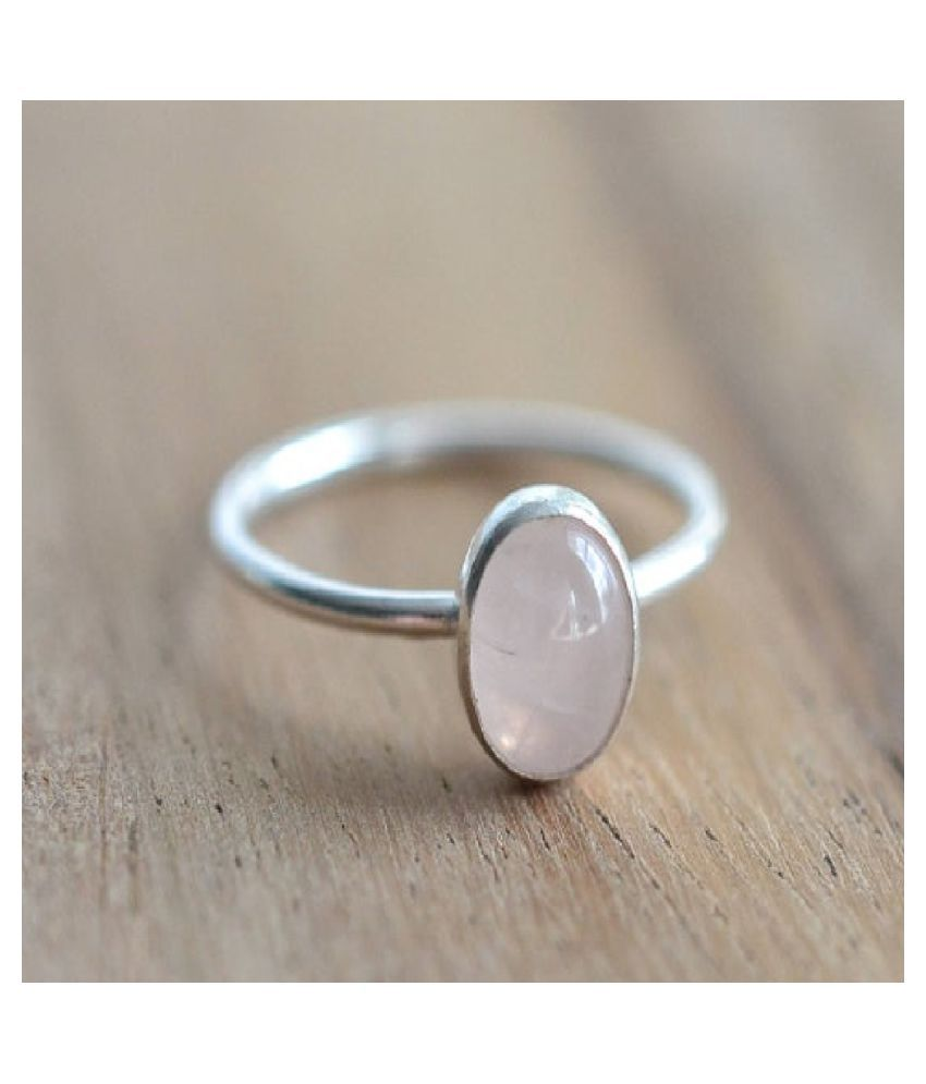 Natural Lab Certified 5.5 carat 100% Original Rose quartz Ring for unisex by Ratan Bazaar \n