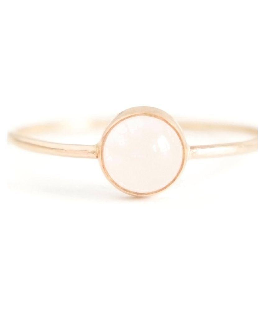 9.5 ratti  Ring Natural Rose quartz  Gold Plated Ring by  Ratan Bazaar