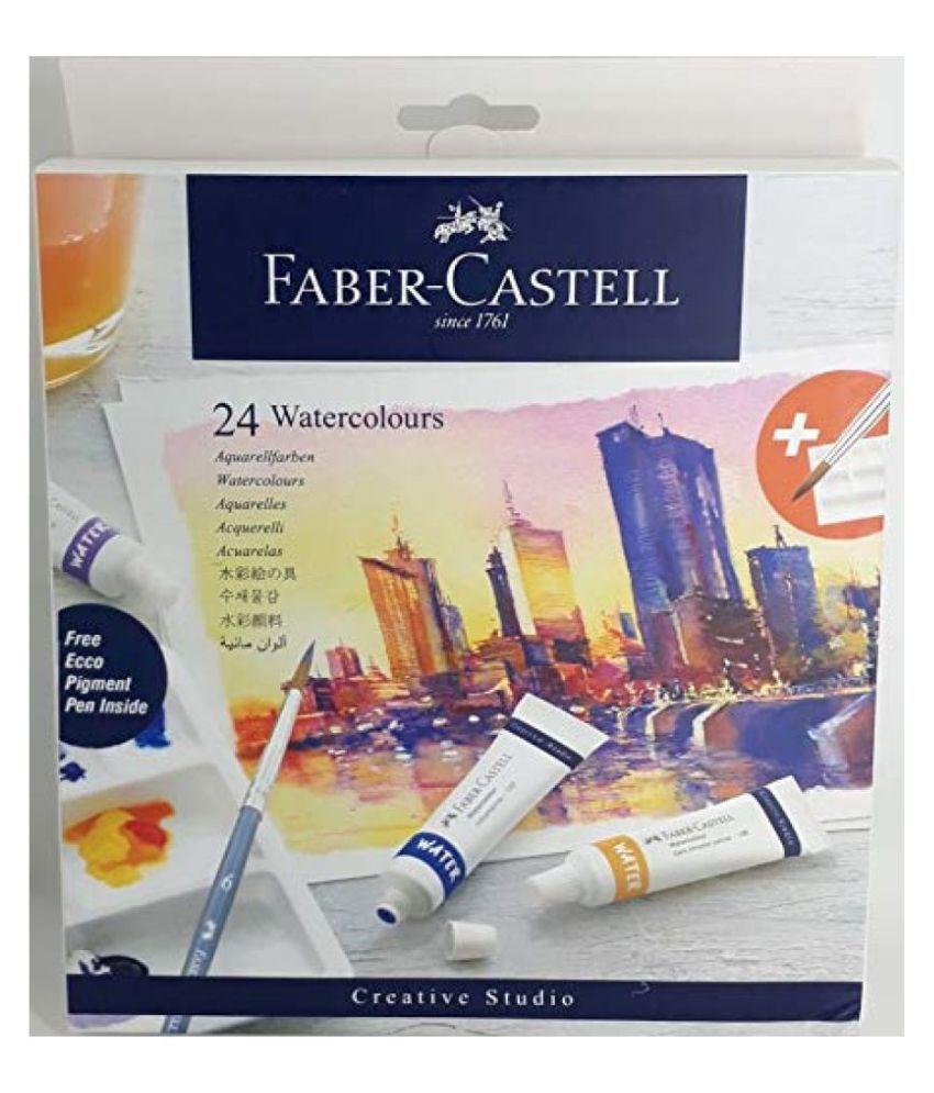 Faber-Castell Creative Studio Watercolours 9 ml Set of 24