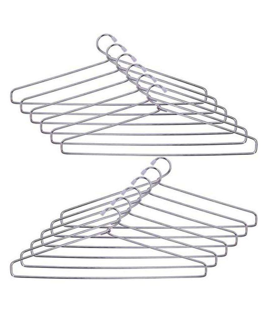 Hazzlewood stainless steel hanger pack of 12