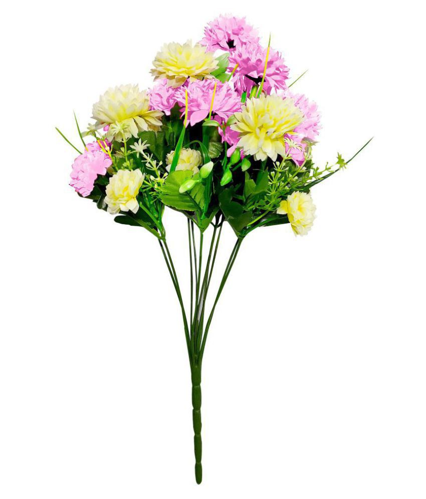fns store Carnations Pink Artificial Flowers Bunch - Pack of 1
