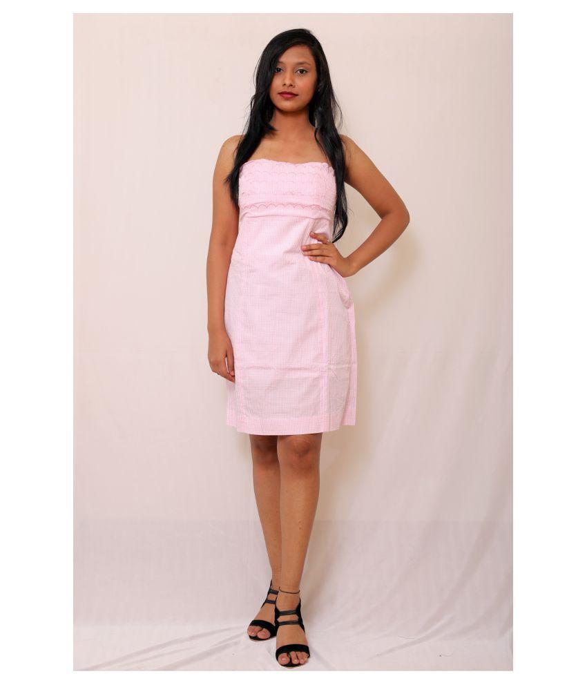 ARRICK FASHION Cotton White A- line Dress