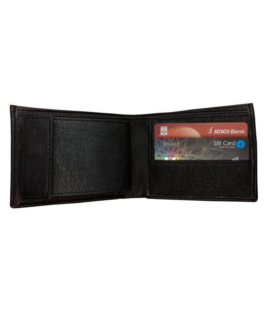Nexa Fashion PU Black Casual Regular Wallet