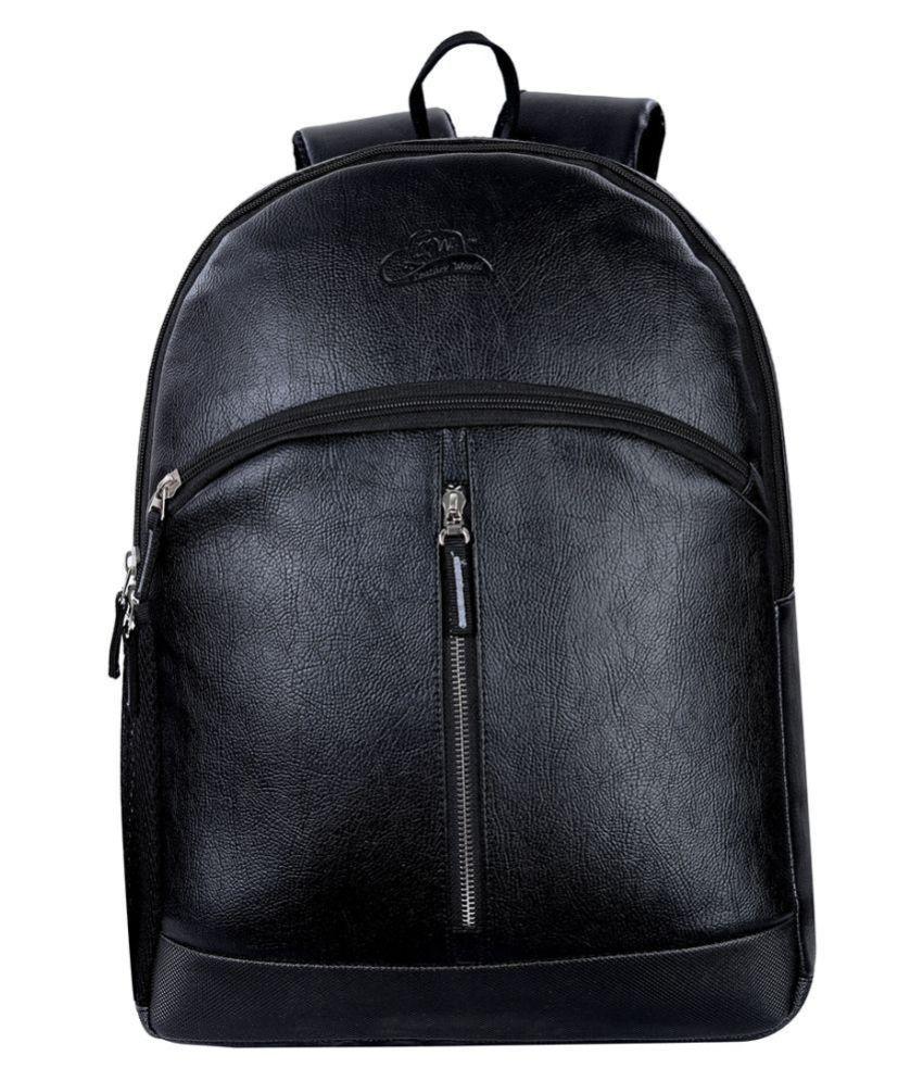Leather Gifts Black P.U. College Bag