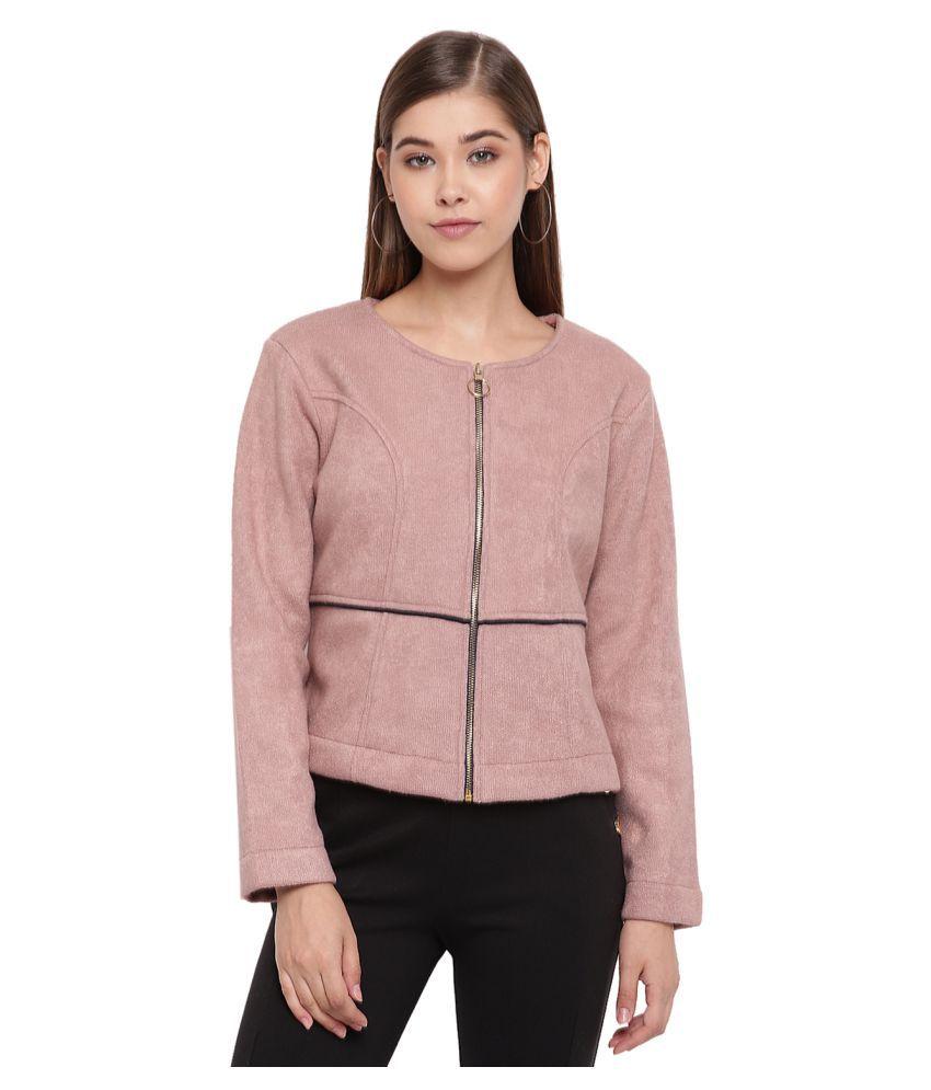 Miss Grace Cotton Pink Non Zippered Sweatshirt