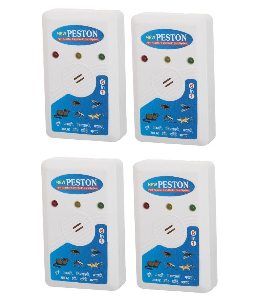 P-ston Insect & Pest Killer Cum Electric Health Care System Ultrasonic Electro Magnetic Pest s for Mosquito ( Set of 4 )