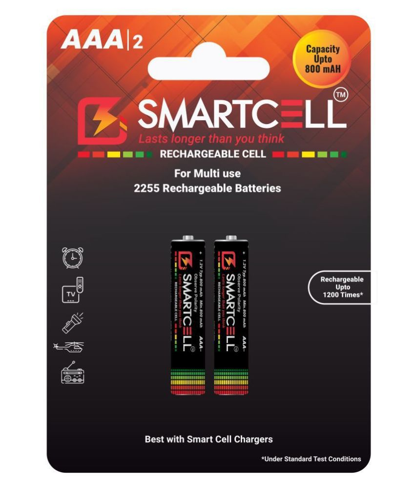 Smartcell AAA Ni-MH 800mAH Rechargeable Battery 2