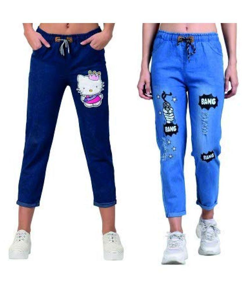 AGLOBI INDIAS NO-1 BRAND Denim Jeans - Blue