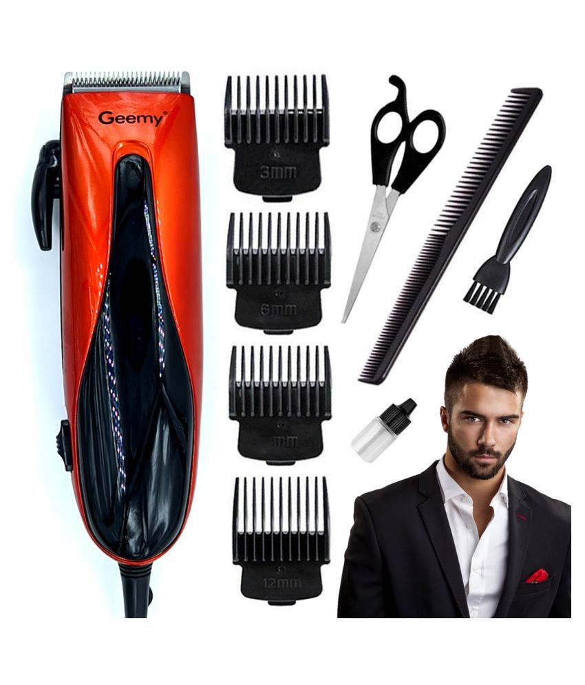 OP Professional Corded High Power Washable Beard Mustache Trimmer 9W Hair Clippe Combo