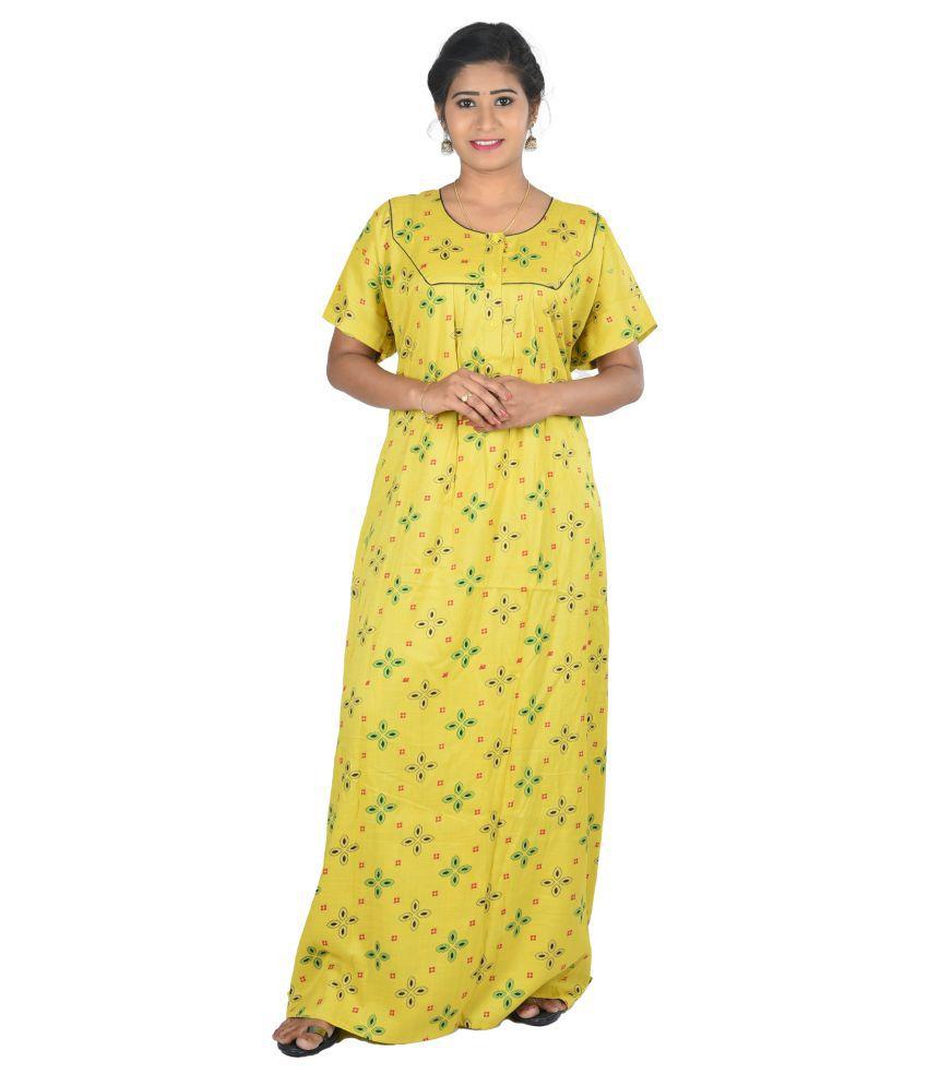 OSF Rayon Nighty & Night Gowns - Yellow