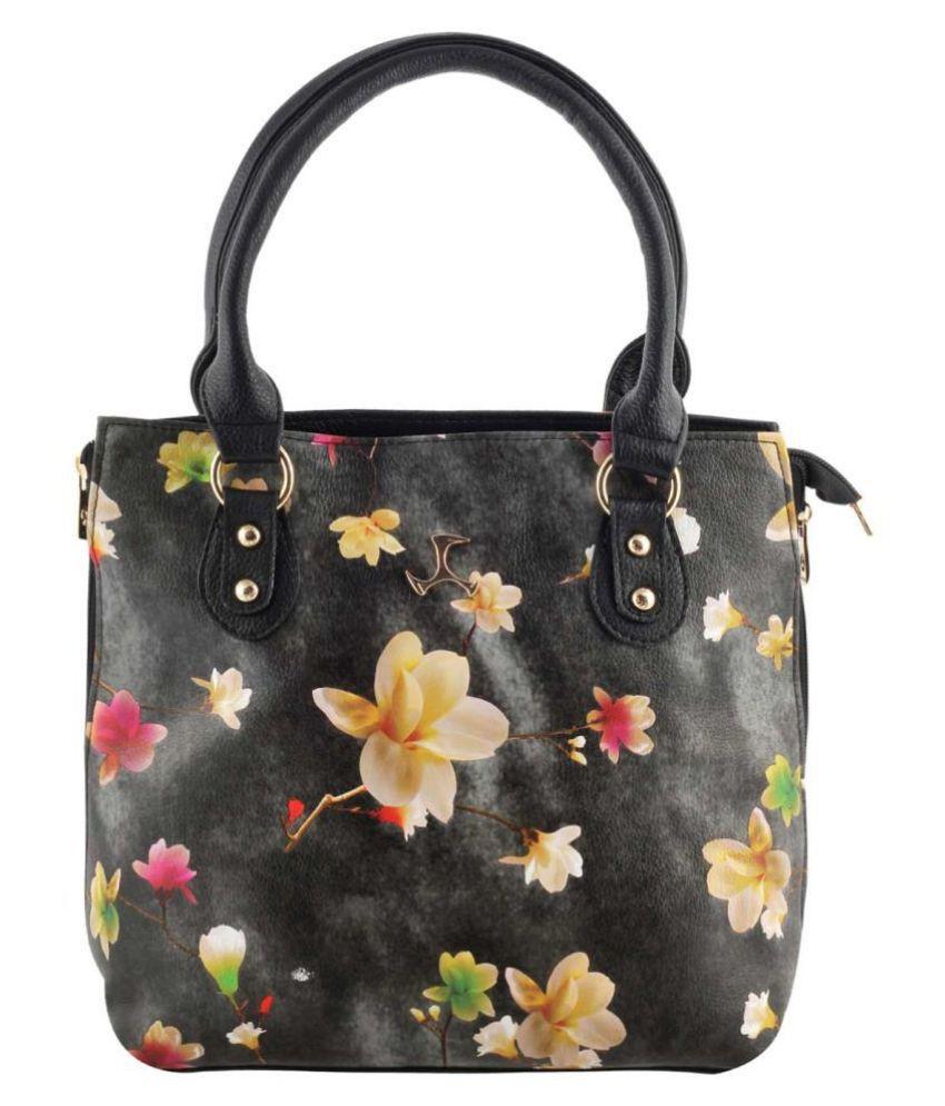 Mochi Black Faux Leather Shoulder Bag