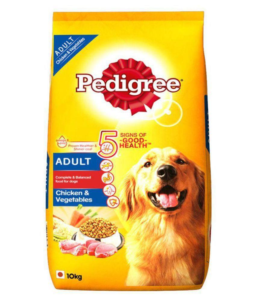 Pedigree Adult Dry Dog Food, Chicken & Vegetables, 10kg