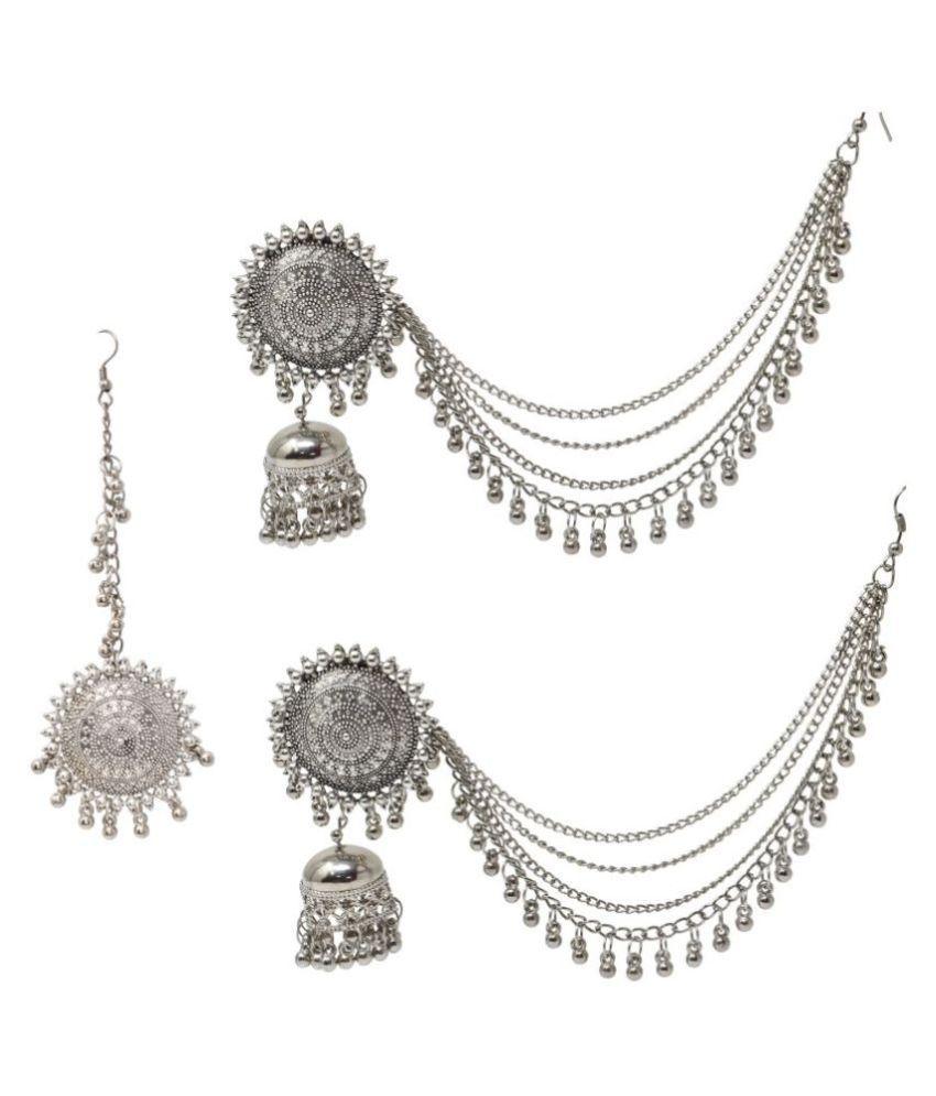 Jaishree Jewels Ethnic Earing with Maangtikka for Women