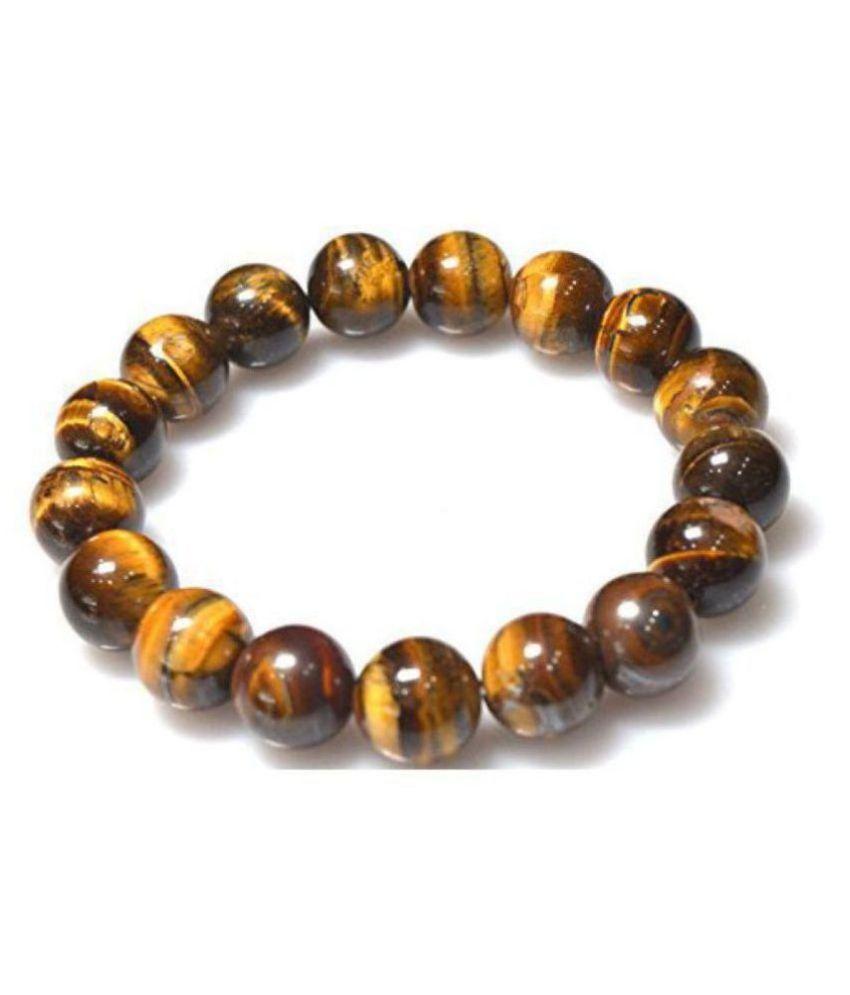 10mm Yellow Tiger Eye Natural Agate Stone Bracelet
