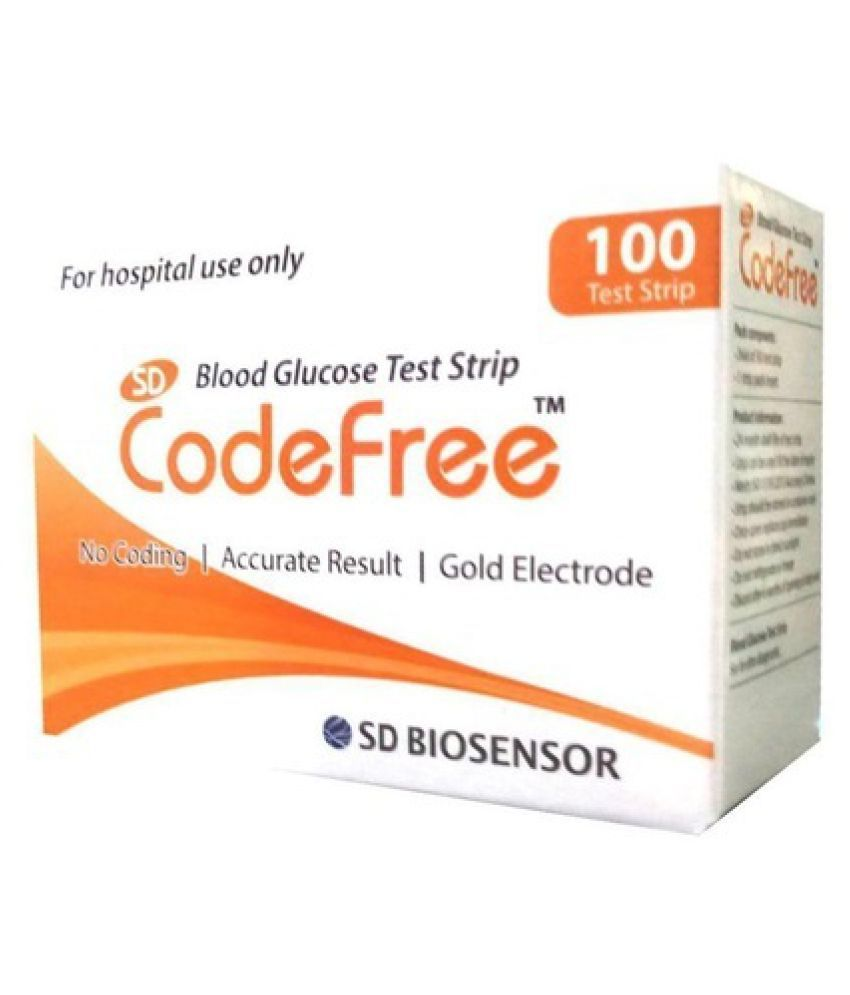 SD CODEFREE SD Code Free 100 Test Strips 1/22