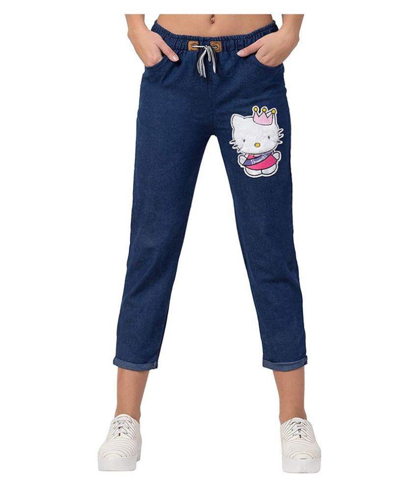 areal  fashion Denim Lycra Jeans - Blue