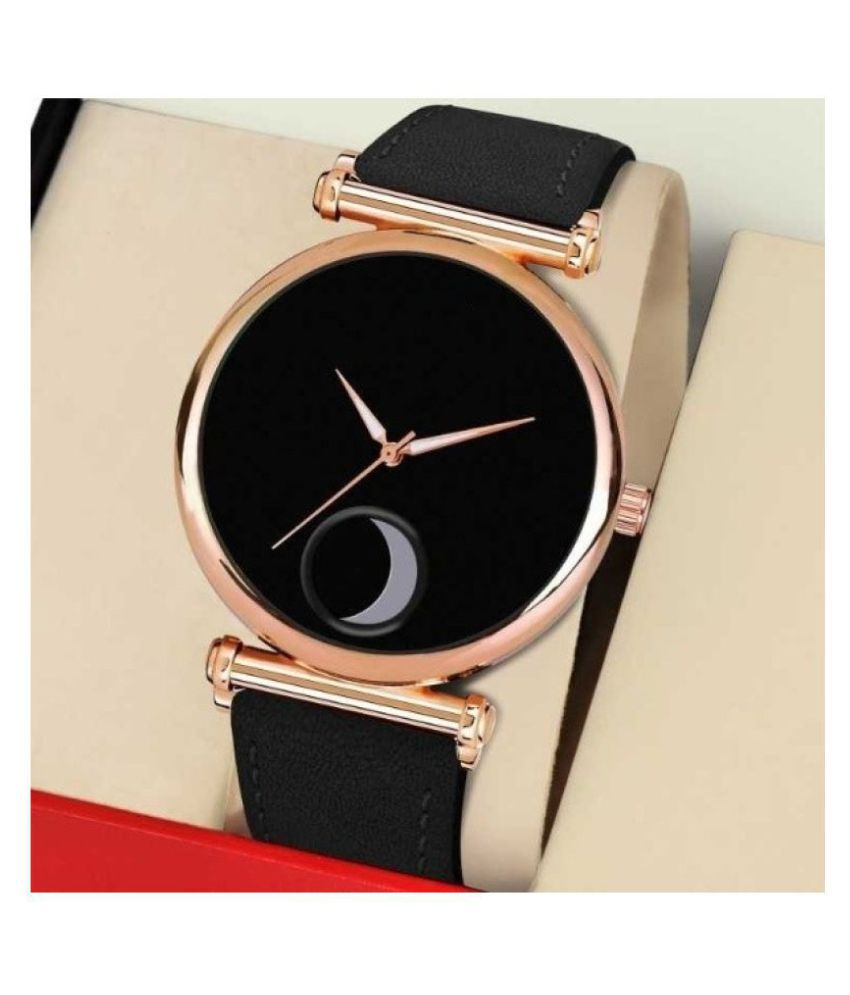 EMPERO 3D Glass Leather Analog Men #039;s Watch