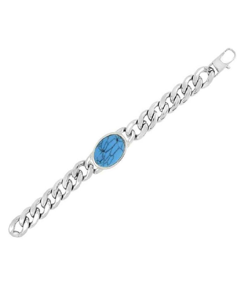 Turquoise Silver Bracelet by Kundli Gems