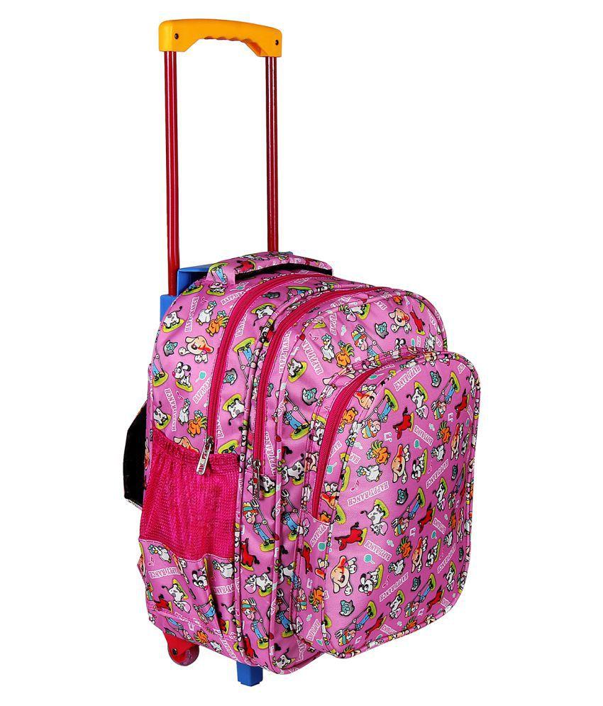 Da Tasche Pink Polyester College Bag