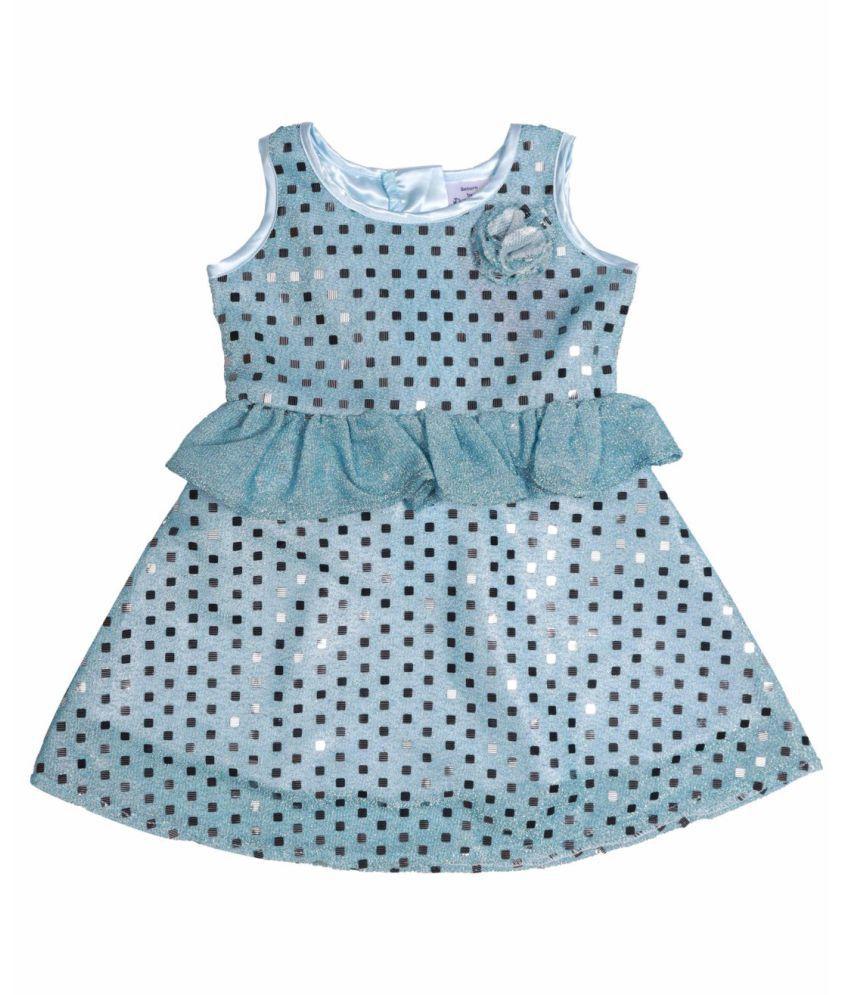 Blue Sequins Party Dress