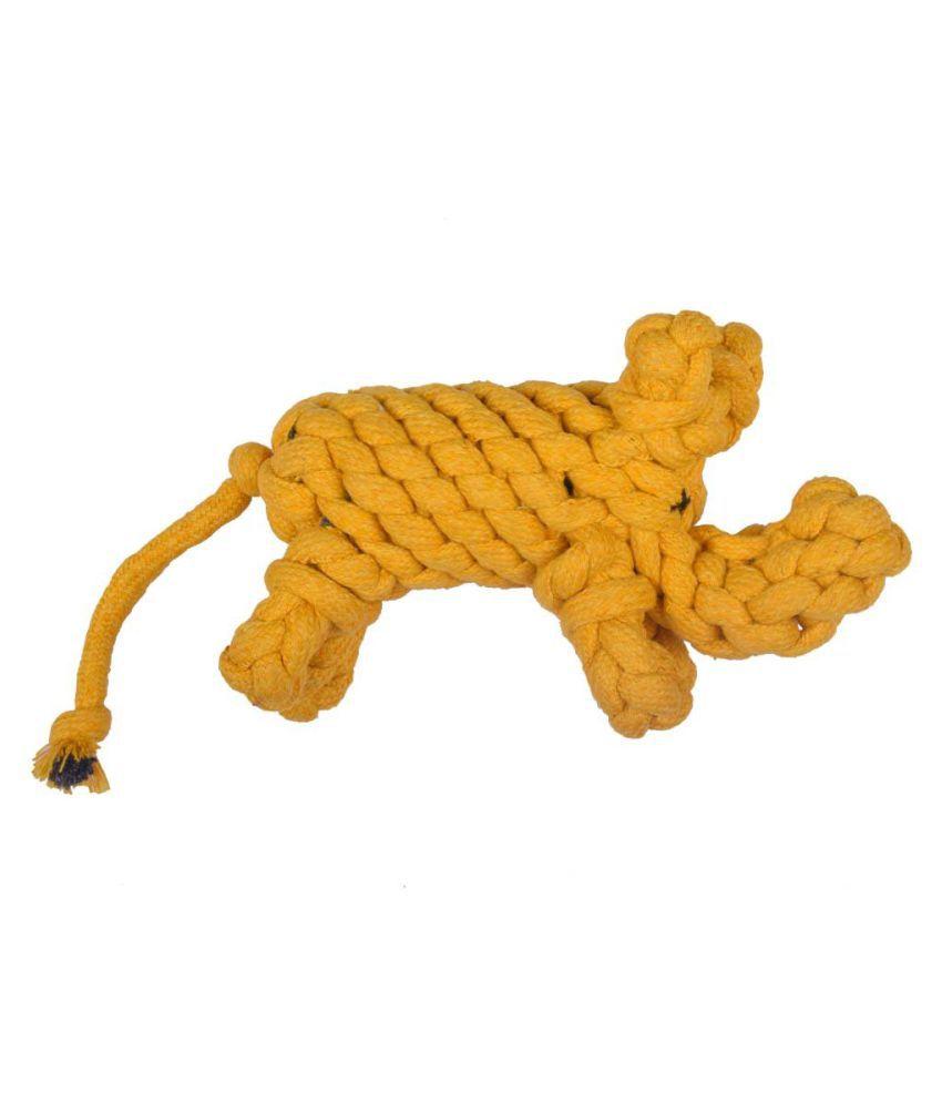 Poochles Braided Repurposed Elephant Shaped Rope Dog Toy