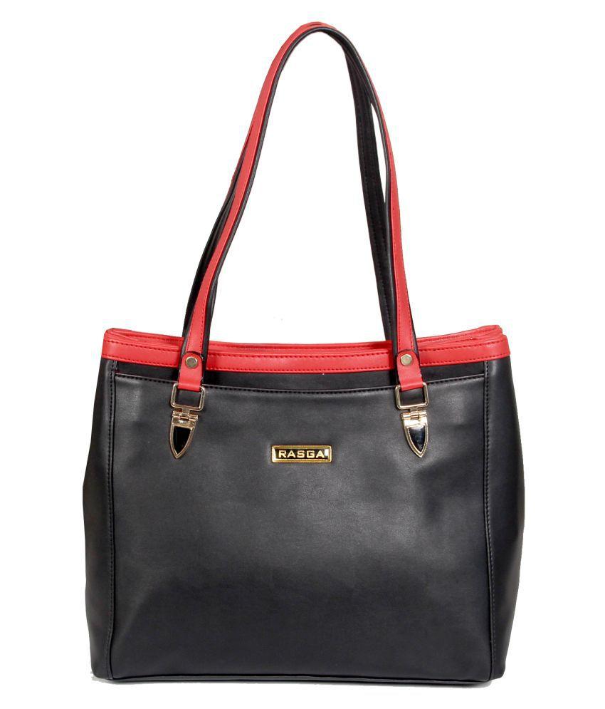 Rasga Black Artificial Leather Sling Bag