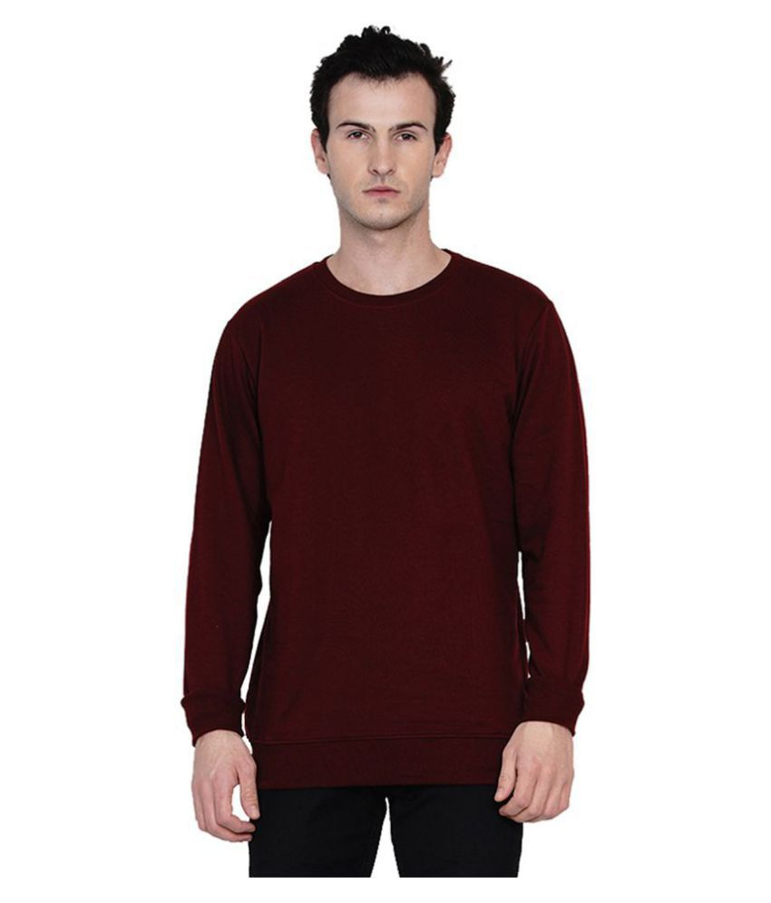 Knits and Weave Maroon Sweatshirt