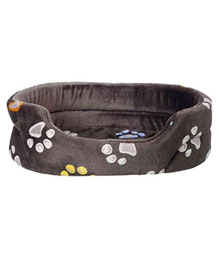 Pet Winter Combo for Dog-Barney Fleece Blanket(150X100cm),Taupe+Jimmy Bed(55x45cm)+Chicken Tenders Slice Dog Treats(Pack of 2)