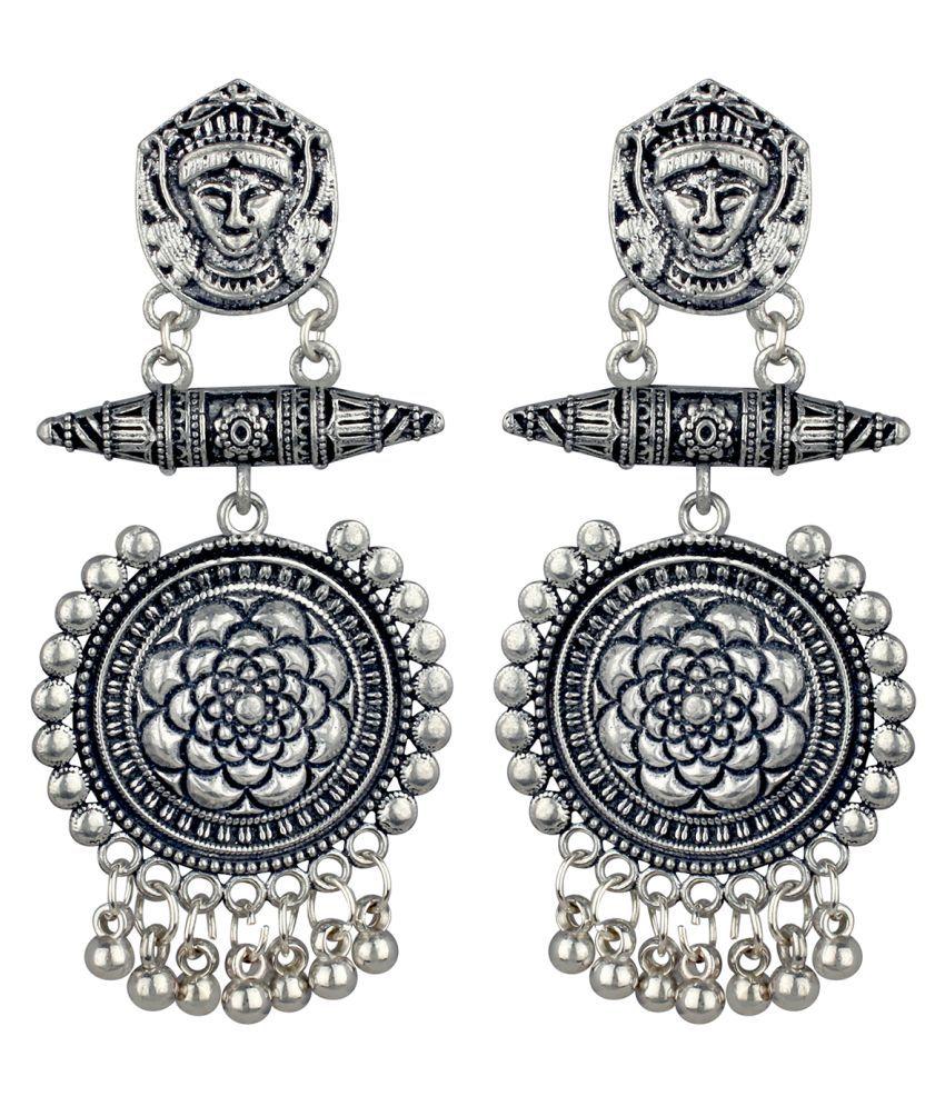 Spargz Tribal Oxidised Festive Wear Gold Plated Dangle Earring For Women TER_055