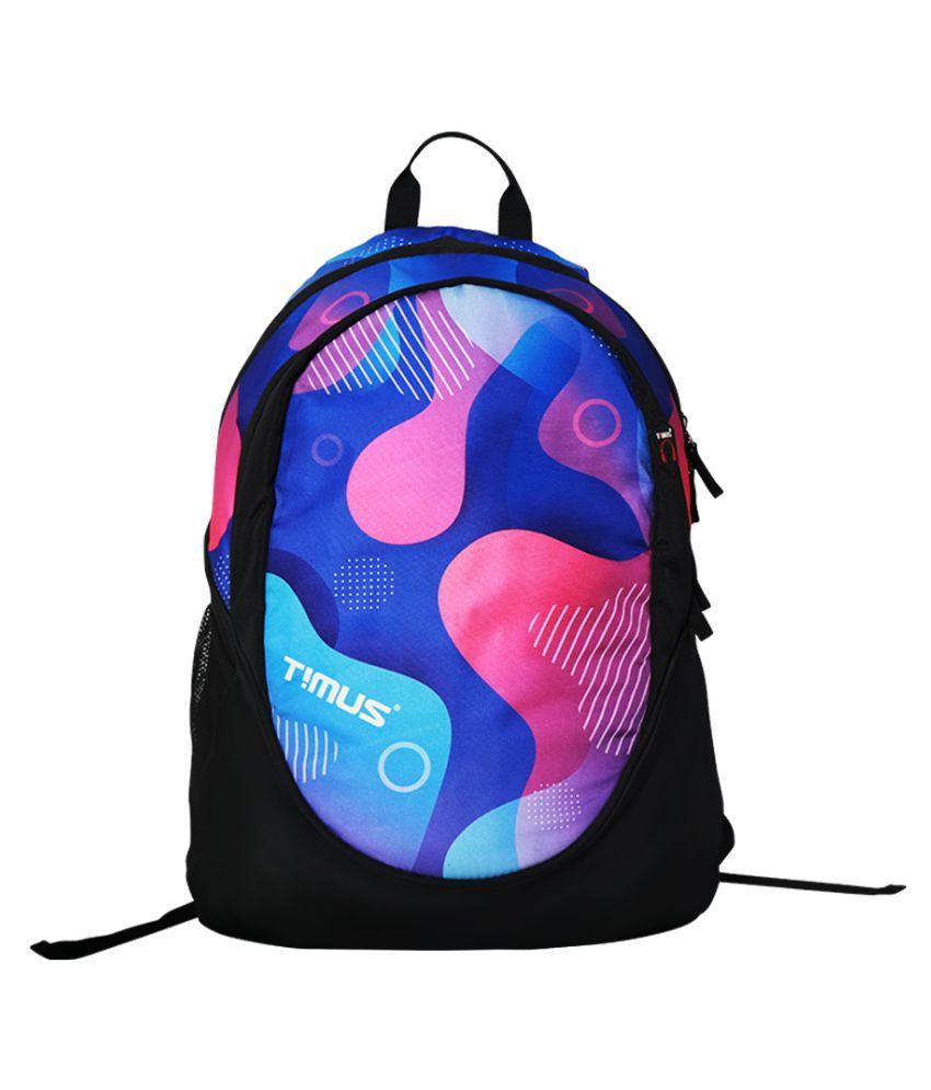 Timus Purple Polyester College Bag