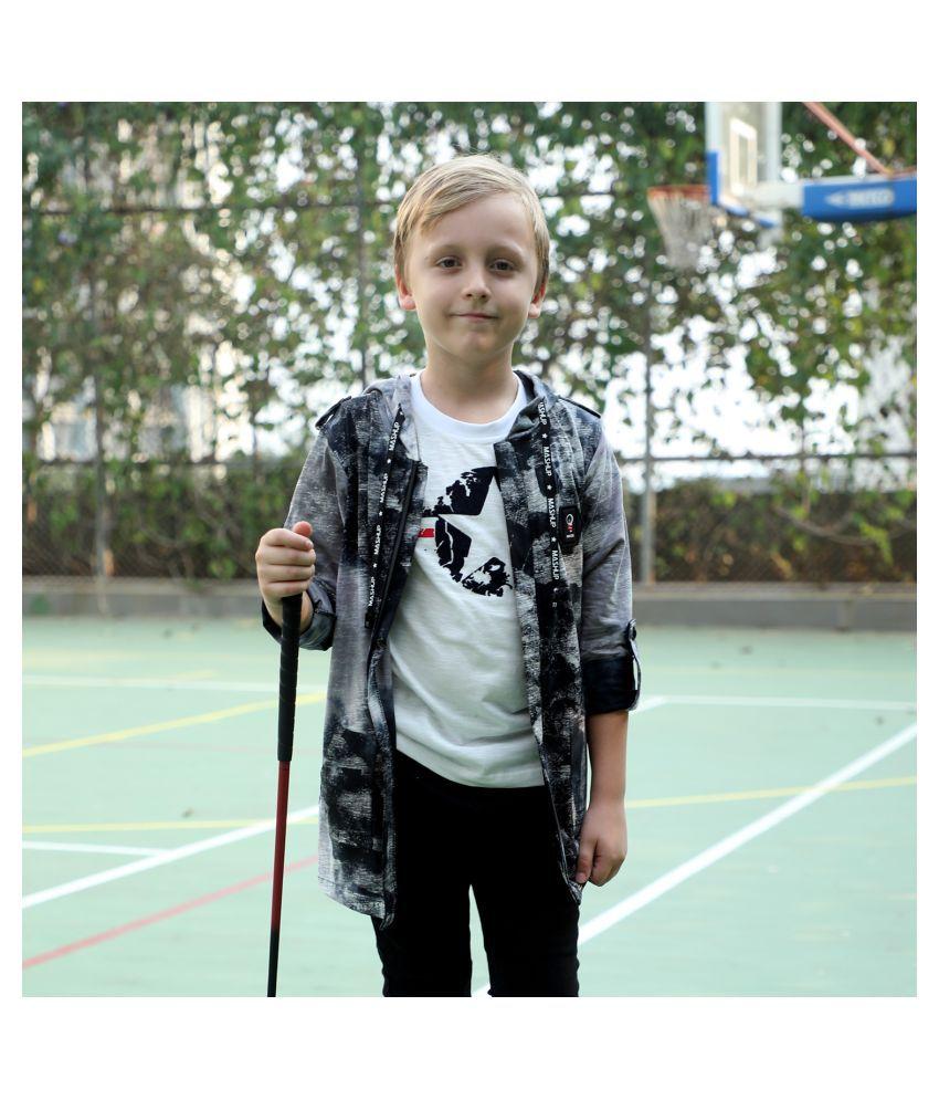 MashUp stylish printed cotton Shrug set for Young boys