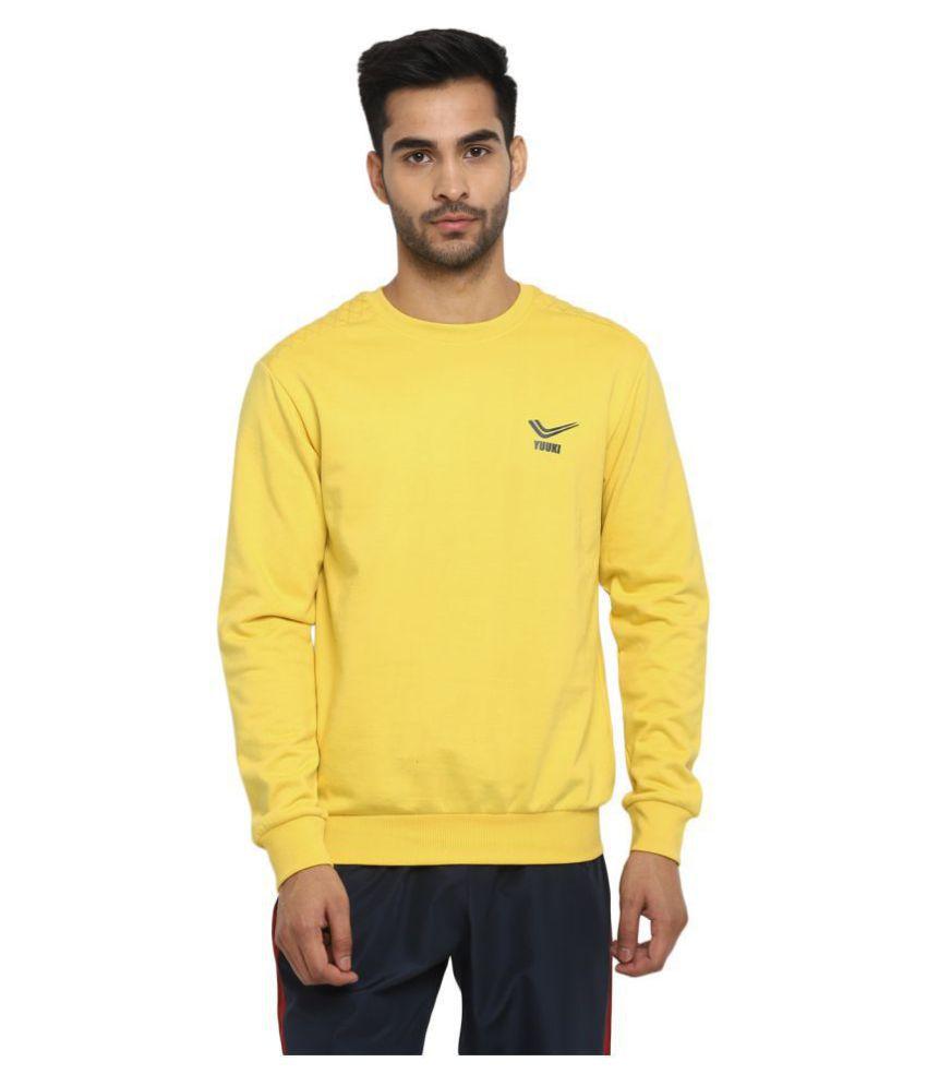 YUUKI Yellow Polyester Sweatshirt