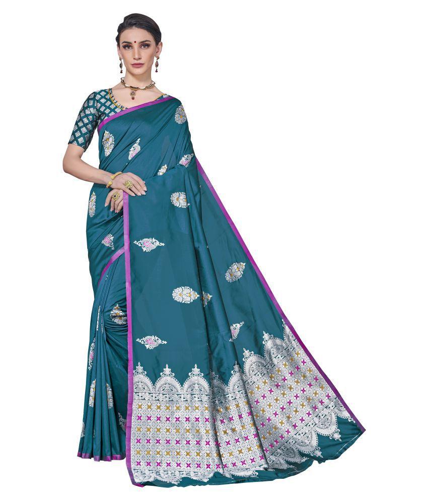 Sherine Blue Banarasi Silk Saree