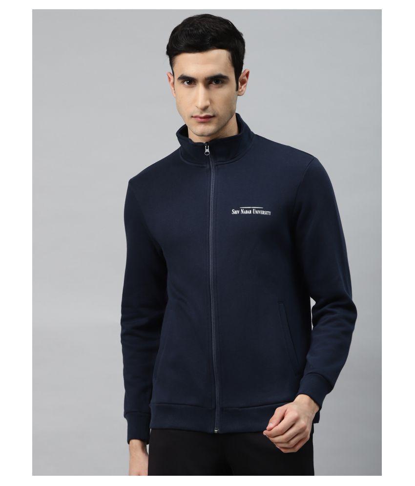 Alcis Blue Polyester Sweatshirt