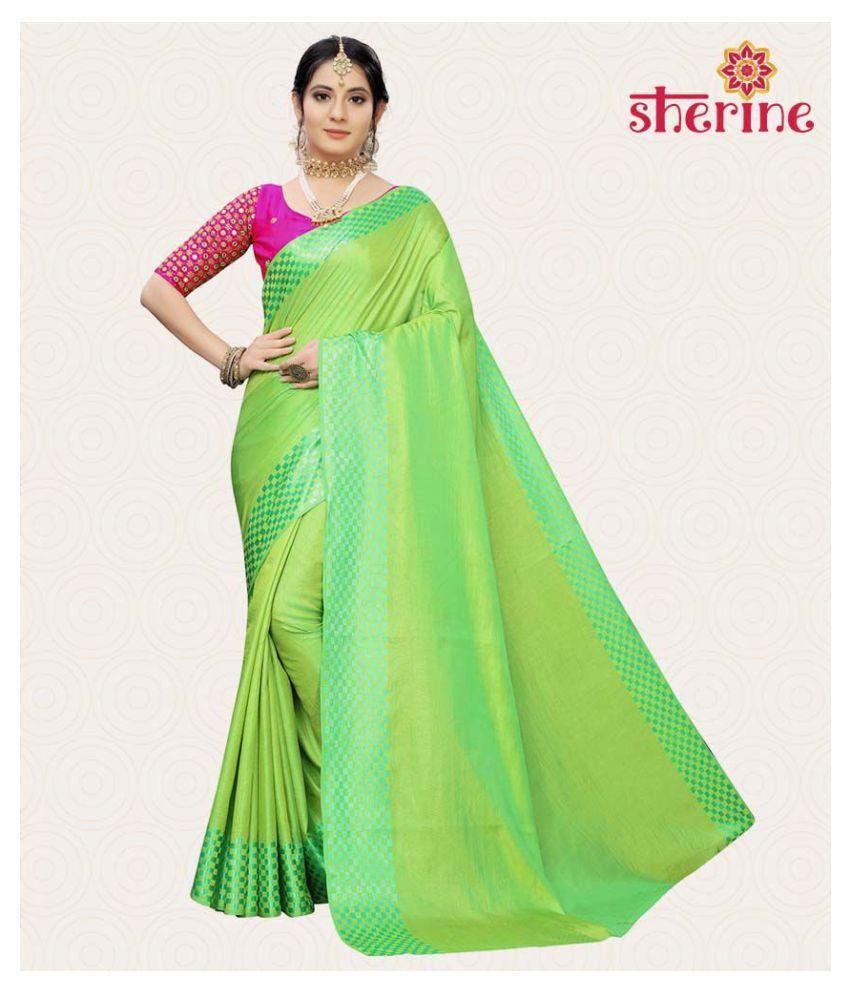 Sherine Green Silk Saree