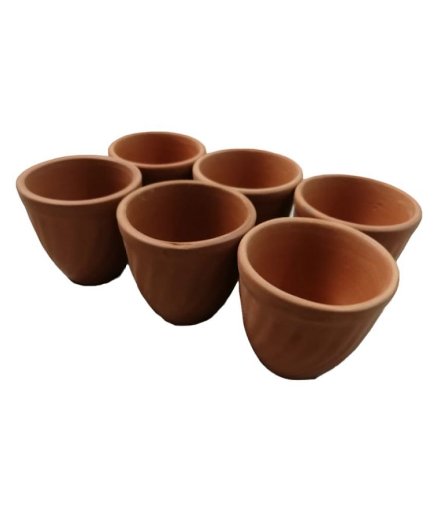KITCHENIS Clay Tea Cup 6 Pcs ml