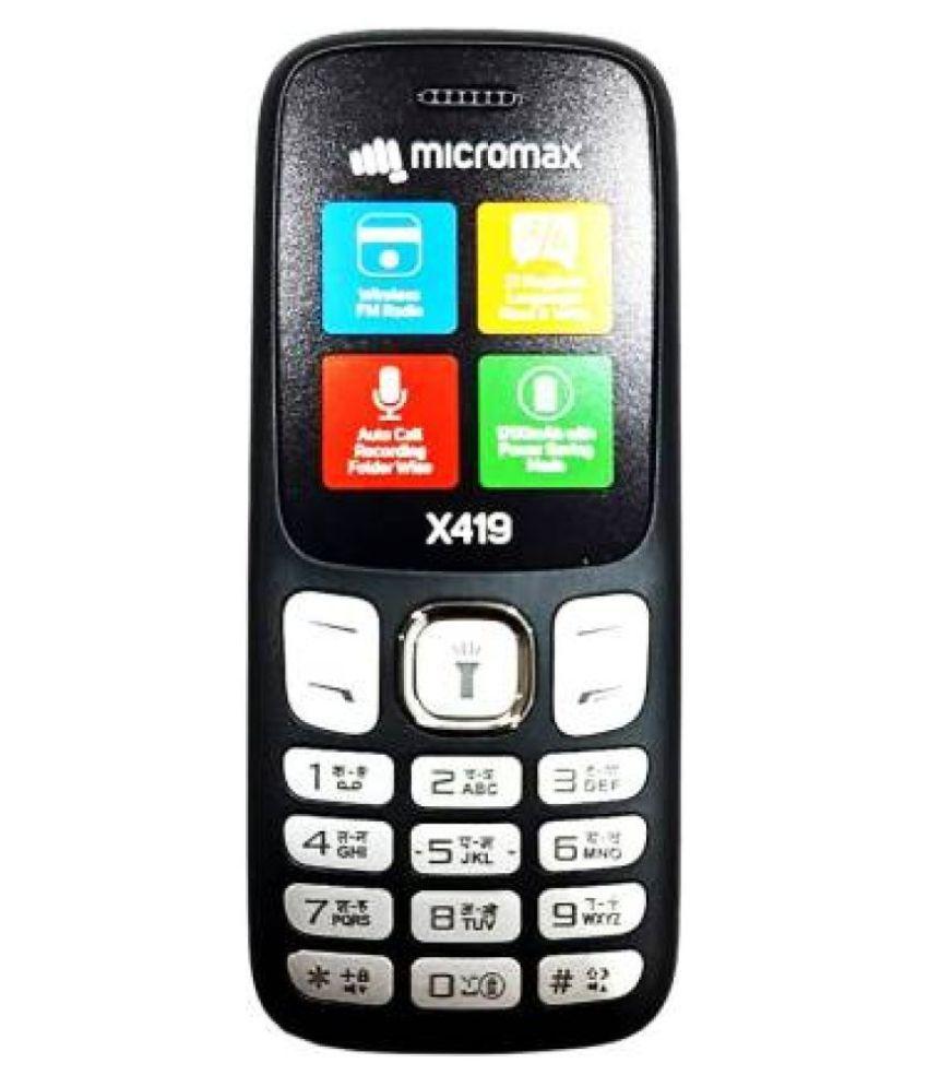 Micromax X419 (JUMBO BATTERY) Black