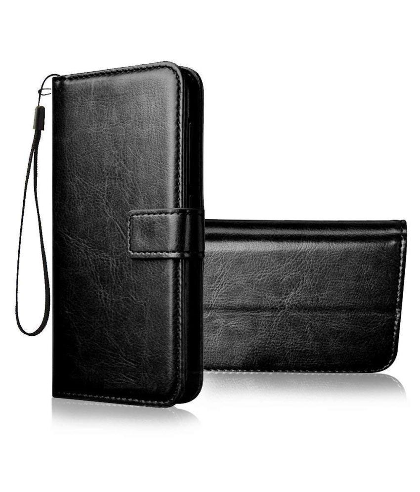 Motorola Moto G5 Plus Flip Cover by ClickAway   Black Wallet Style Flip Cover