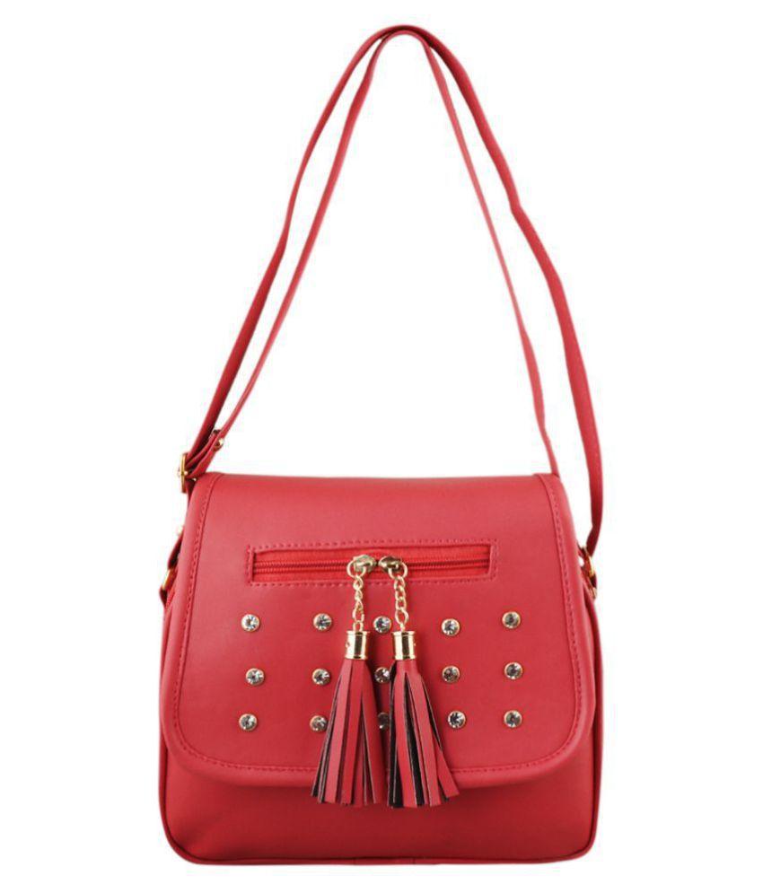SW Super World Red P.U. Sling Bag