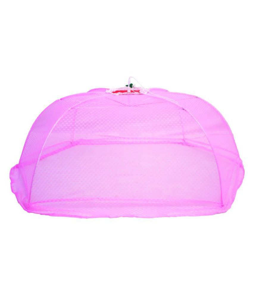 All Habits Pink Nylon Mosquito Net ( 108 cm × 77 cm)