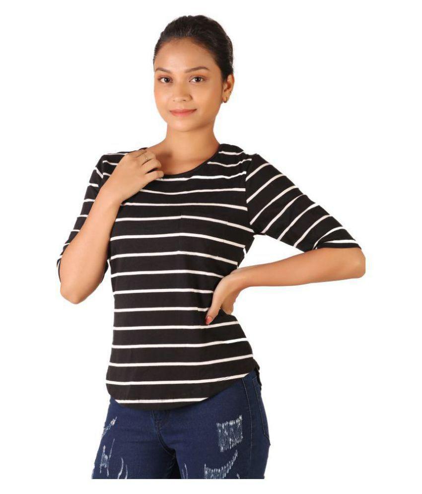 Leean Patterns Cotton Multi Color T-Shirts