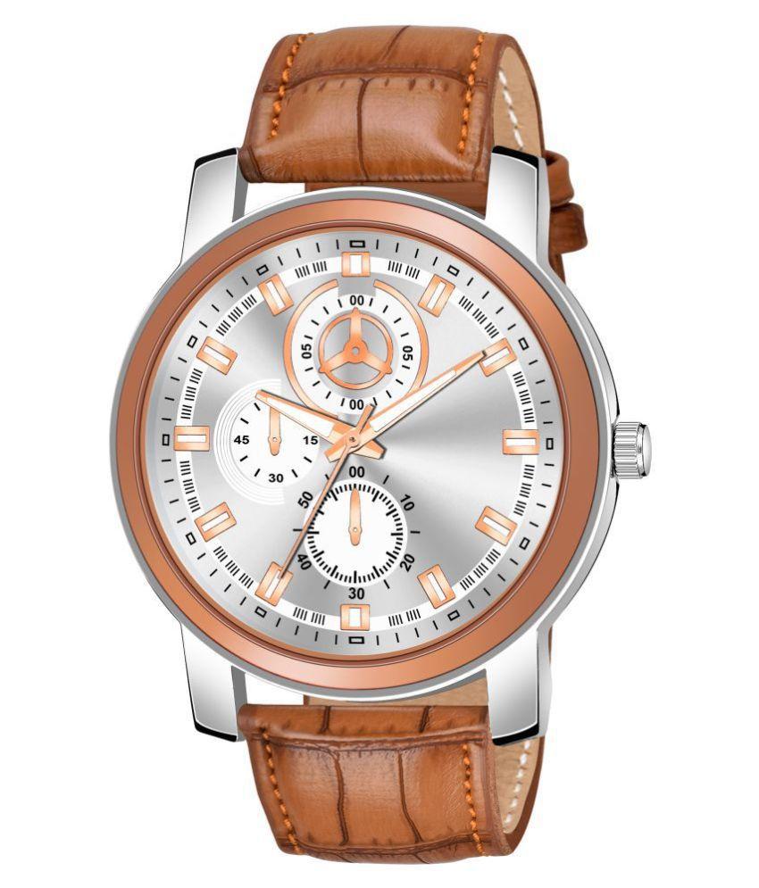 AMINO KJR_8137 Leather Analog Men's Watch