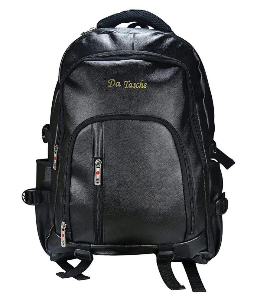 Da Tasche Black Leather College Bag